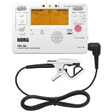 KORG Tuner Metronome with CM200 [TM50C PW] - Pearl White - Tuner Portable